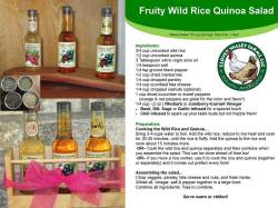 Fruity Wild Rice Quinoa Salad with our Gourmet Vinegars and Herb infused salts!